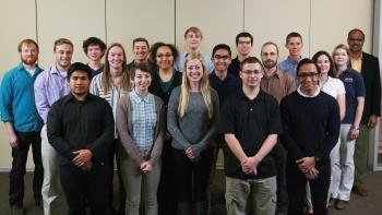 The Iowa State University Collegiate Wind Competition team.