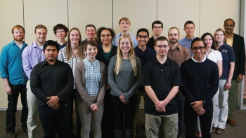 The Iowa State University Collegiate Wind Competition team.
