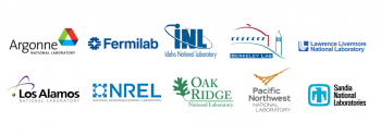 Energy I-Corps national laboratory logos.