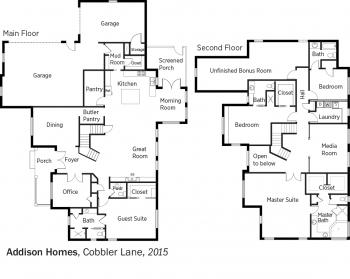 DOE Tour of Zero: Cobbler Lane by Addison Homes floorplans.