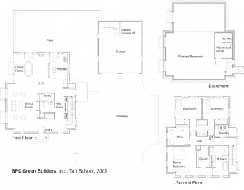 DOE Tour of Zero: Taft School by BPC Green Builders floorplans.