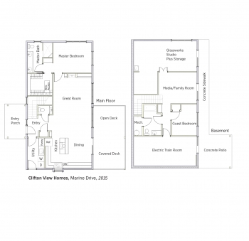 DOE Tour of Zero: Marine Drive by Clifton View Homes floorplans.