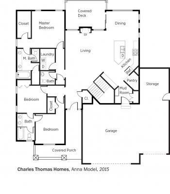 DOE Tour of Zero: Anna Model by Charles Thomas Homes floorplans.
