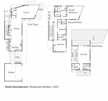 DOE Tour of Zero: Reclaimed Modern by Dwell Development floorplans.
