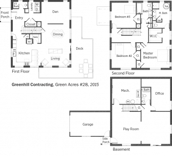 DOE Tour of Zero: Green Acres #28 by Greenhill Contracting floorplans.