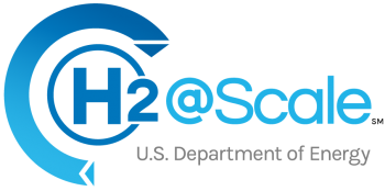 U.S. Department of Energy H2@Scale logo with service mark