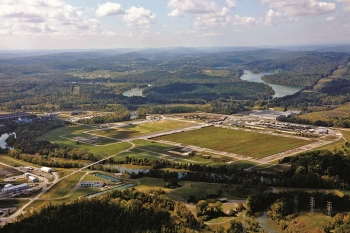 The Oak Ridge Office of Environmental Management transferred almost 200 acres to the community for redevelopment. The area was once occupied by the massive K-31 and K-33 gaseous diffusion uranium enrichment buildings.