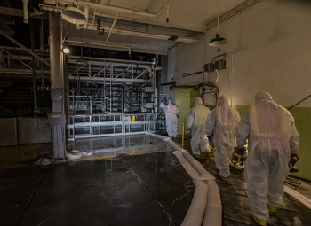 A team of safety and technical experts recently entered several areas of the 100 K East Reactor to begin the several-year process of planning for cocooning the reactor.