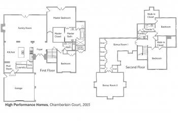 DOE Tour of Zero: Chamberlain Court #75 by High Performance Homes floorplans.