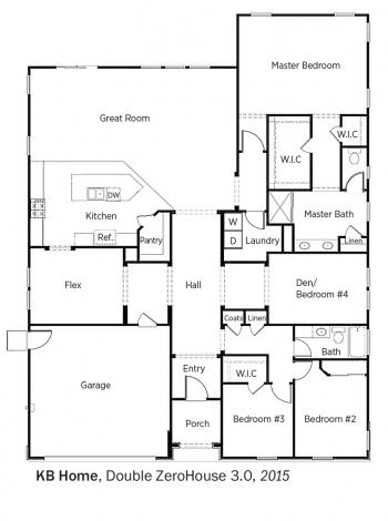 DOE Tour of Zero: Double ZeroHouse 3.0 by KB Home floorplans.