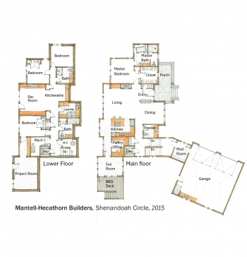 DOE Tour of Zero: Shenandoah Circle by Mantell-Hecathorn Builders floorplans.
