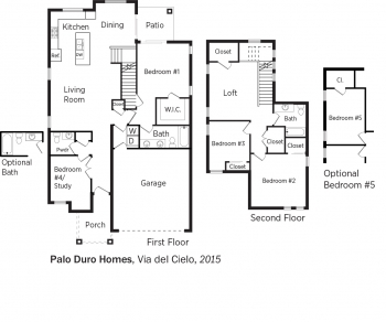 DOE Tour of Zero: Via del Cielo by Palo Duro Homes floorplans.
