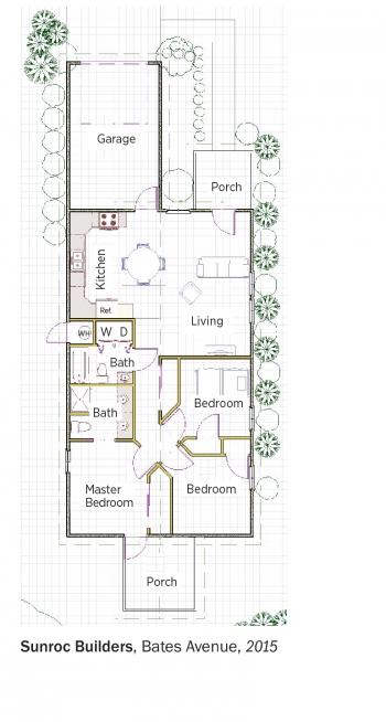 DOE Tour of Zero: Bates Avenue by Sunroc Builders floorplans.