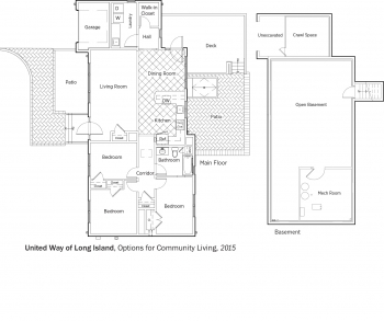 DOE Tour of Zero: Options for Community Living by United Way of Long Island floorplans.