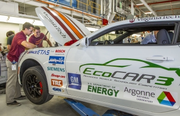 Virginia Tech at the EcoCar3 competition