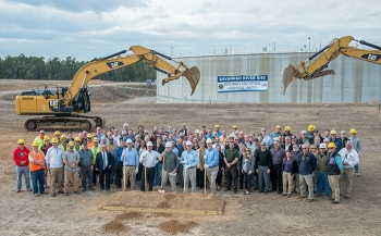 Energy Secretary Rick Perry joined about 100 Savannah River Site employees for the groundbreaking of Saltstone Disposal Unit 7.
