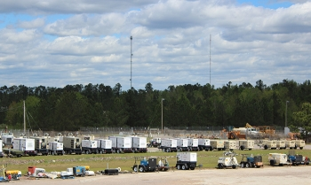 The Portable Equipment Commodity Management Center equipment storage area at the Savannah River Site.