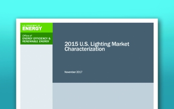 Thumbnail image of the cover of the 2015 U.S. Lighting Market Characterization.