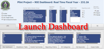 Pilot Project - NSI Dashboard: Real Time Fiscal Year - Launch