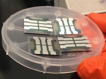 Inkjet-printed perovskite solar cells