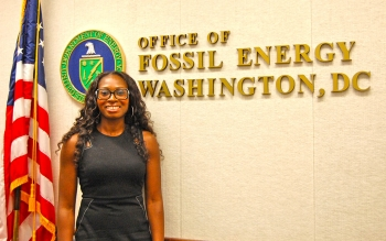 Dr. Quinta Warren, an American Association for the Advancement of Science Fellow in the Office of Fossil Energy