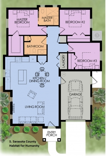 DOE Tour of Zero: Laurel Gardens by Habitat for Humanity South Sarasota County floorplans.