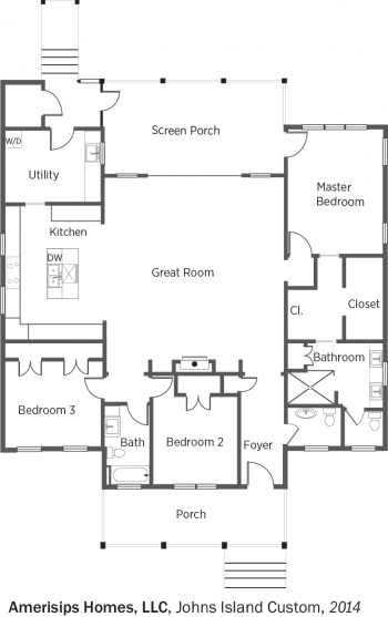 DOE Tour of Zero: Johns Island Custom by Amerisips Homes LLC floorplans.