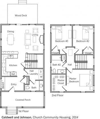 DOE Tour of Zero: Church Community Housing Corp. 1 by Caldwell and Johnson floorplans.