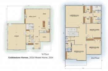 DOE Tour of Zero: 2014 Model Home by Cobblestone Homes floorplans.