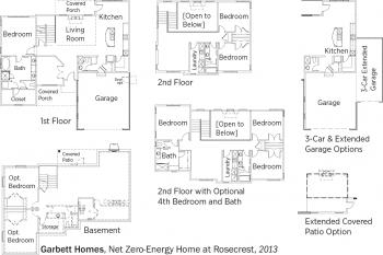 DOE Tour of Zero: Garbett's Net Zero-Energy Home at Rosecrest by Garbett Homes floorplans.