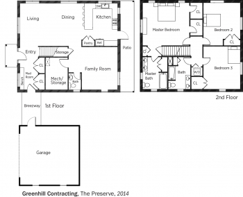 DOE Tour of Zero: The Preserve by Greenhill Contracting floorplans.