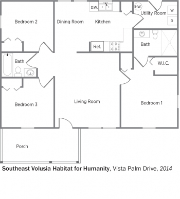DOE Tour of Zero: Vista Palm Drive by Southeast Volusia Habitat for Humanity floorplans.