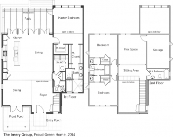 DOE Tour of Zero: Proud Green Home by The Imery Group floorplans.