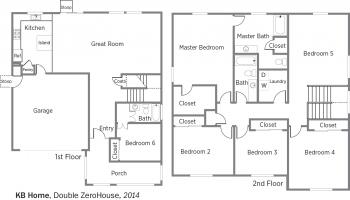 DOE Tour of Zero: Double ZeroHouse by KB Home floorplans.