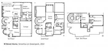 DOE Tour of Zero: Smartlux on Greenpark by M Street Homes floorplans.