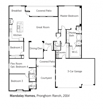 DOE Tour of Zero: Pronghorn Ranch by Mandalay Homes floorplans.