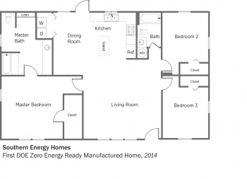DOE Tour of Zero: First DOE Zero Energy Ready Manufactured Home by Southern Energy Homes floorplans.