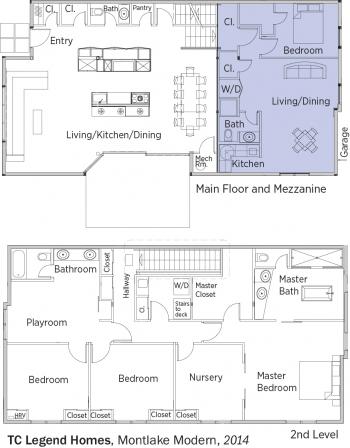 DOE Tour of Zero: Montlake Modern by TC Legend Homes floorplans.