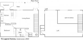 DOE Tour of Zero: Cedarwood by TC Legend Homes floorplans.