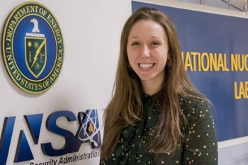 Jessica Jagmin Brookins of NNSA's Office of Material Management and Minimization