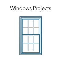 "Graphic of a window with the words ""Windows Projects."""
