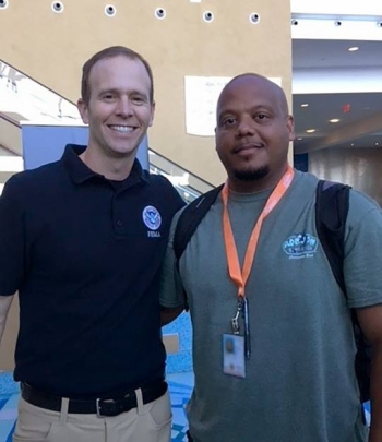 Jose Rivera with the FEMA administrator