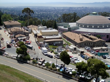 The Lawrence Berkeley National Laboratory Old Town area before completion of the first of four cleanup phases.