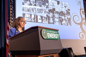 Melody C. Bell, Associate Deputy Assistant Secretary for Resource Management, Office of Environmental Management gave a special introduction.