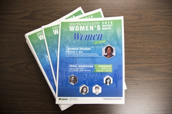 Brochures from a special Women's History Month event recently took place at NNSA headquarters in Washington, D.C.
