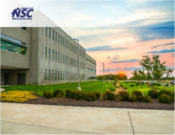 Kansas City National Security Campus building with logo