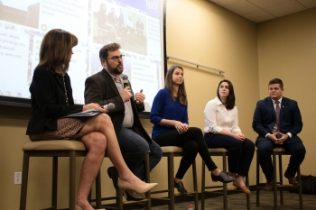 Panelists at the Texas A&M Millennial Nuclear Caucus