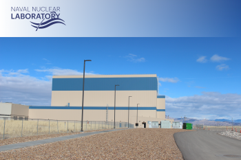 The Naval Reactors Facility in Idaho with the Naval Nuclear Labs logo