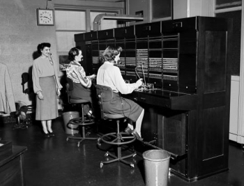 1958: Kansas City Plant operators routed more than 22,000 interoffice calls each day before we had email.