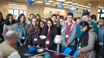 Students attend the Fermilab High Energy High Ambitions Conference.